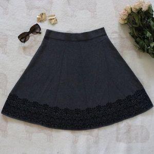 Winter | Minimalist Gray Mini Skirt